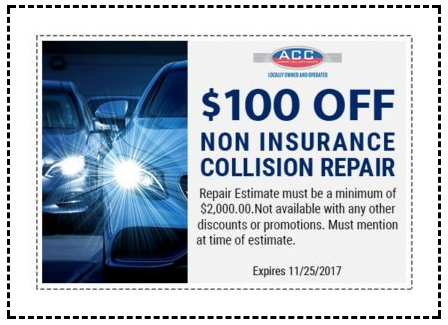 auto body shop and repair discount coupon